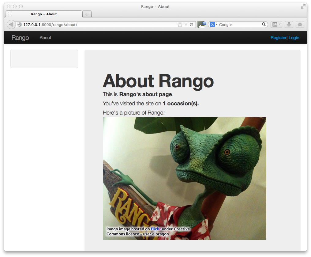 11 bootstrapping rango how to tango with django imagesch11 bootstrap aboutg falaconquin
