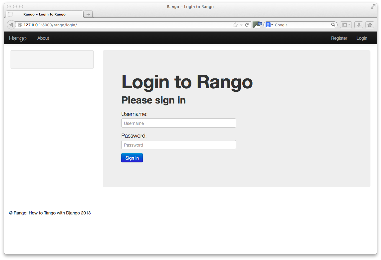 11 bootstrapping rango how to tango with django for Getbootstrap com templates